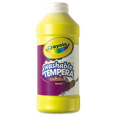 Crayola Artista II 16 oz Washable Tempera Paint  Yellow 543115034
