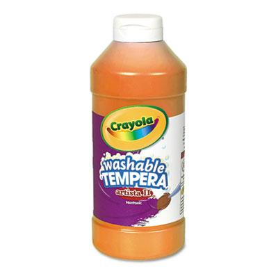 Crayola Artista II 16 oz Washable Tempera Paint  Orange 543115036