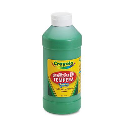 Crayola Artista II 16 oz Washable Tempera Paint  Green 543115044
