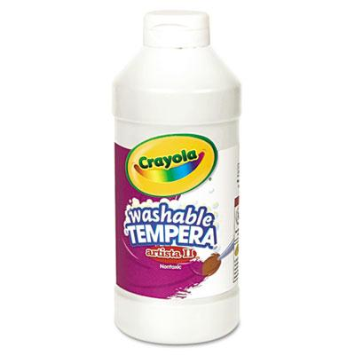 Crayola Artista II 16 oz Washable Tempera Paint  White 543115053