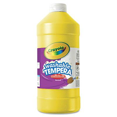 Crayola Artista II 32 oz Washable Tempera Paint  Yellow 543132034