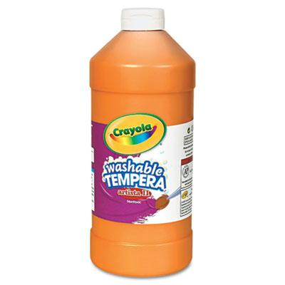 Crayola Artista II 32 oz Washable Tempera Paint  Orange 543132036