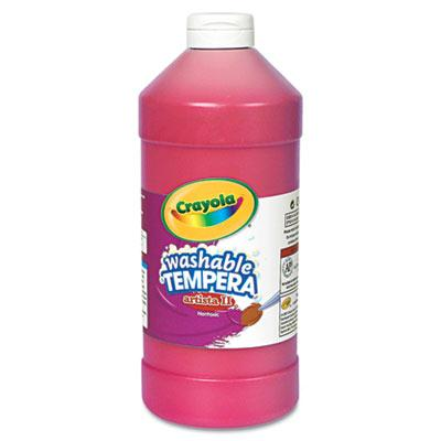 Crayola Artista II 32 oz Washable Tempera Paint  Red 543132038