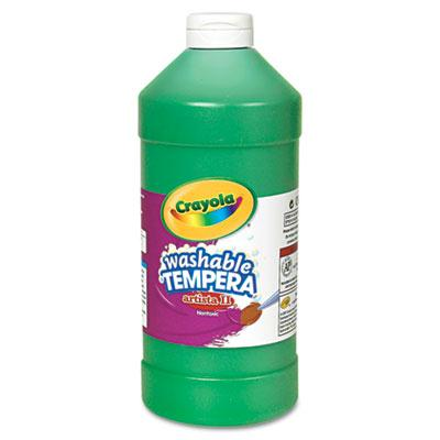Crayola Artista II 32 oz Washable Tempera Paint  Green 543132044