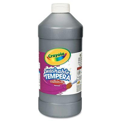 Crayola Artista II 32 oz Washable Tempera Paint  Black 543132051