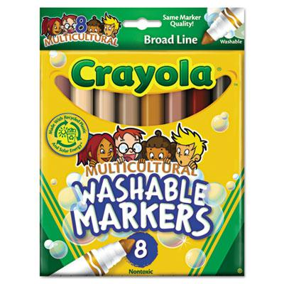 Crayola Multicultural Washable Marker Conical Point Assorted 8-pack