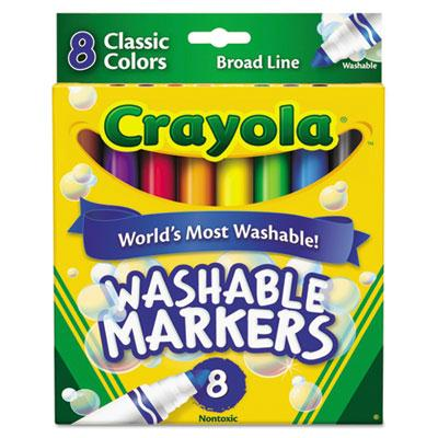 Crayola Ultra-clean Washable Marker Broad Point Assorted 8-pack