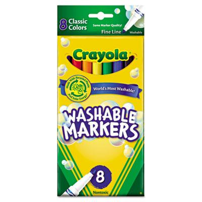 Crayola Ultra-clean Washable Marker Fine Point Assorted 8-pack