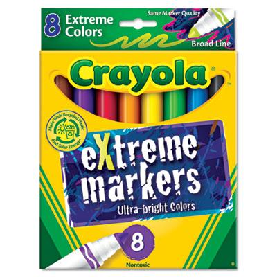 Crayola Extreme Color Marker Chisel Tip Assorted 8-pack