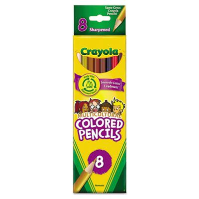 Crayola Multicultural 3.3 Mm Assorted Colors Woodcase Pencils 8-pack