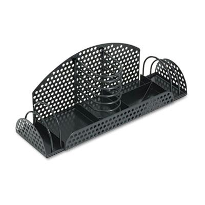 Fellowes Perf-Ect Multi Desk Organizer  Metal/Wire  Black 22326