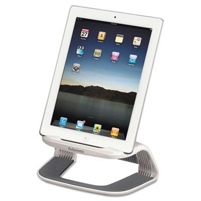 "Fellowes 4-5/8"" H I-Spire Tablet Riser  White/Gray 9311301"