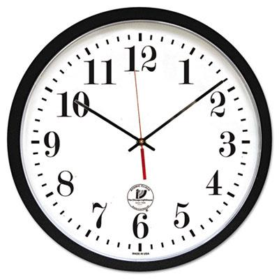 """Chicago Lighthouse 16.5"""" Contemporary Atomic Wall Clock Black"""