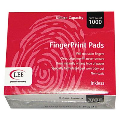 "Lee Inkless Fingerprint Pads  2-1/4"" x 1-3/4""  Black  12/Box 03127"
