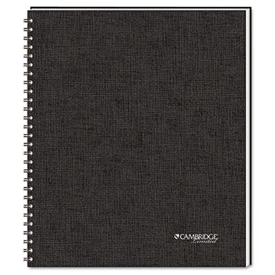 """Cambridge 8-7/8"""" X 11"""" 80-sheet Legal Rule Meeting Notebook Black Cover"""