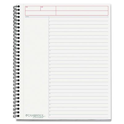 """Cambridge 8-7/8"""" X 11"""" 80-sheet Action Planner Business Notebook Black Cover"""