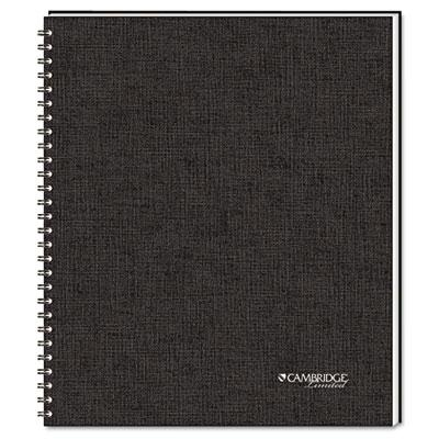 """Cambridge 8-7/8"""" X 11"""" 80-sheet Quicknotes Business Notebook Black Cover"""
