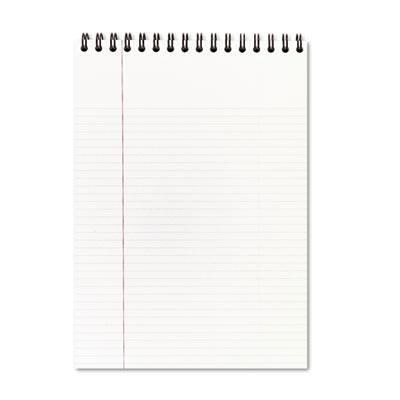 "Cambridge 8-7/8"" X 11"" 80-sheet Legal Rule Notepad Black Cover"