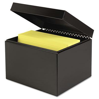"SteelMaster Index Card File Holds 900 6"" x 9"" Cards 263869BLA"