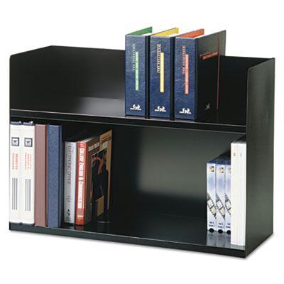 Two-Tier Book Rack, Steel, 29 1/8 x 10 5/16 x 20, Black 26423BRBK