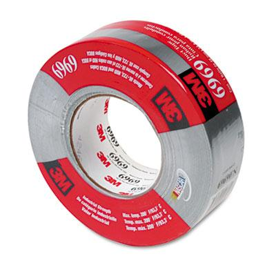 "3m 1.88"" X 60 Yds Poly-coated Cloth Hvac Duct Tape 3"" Core Silver"