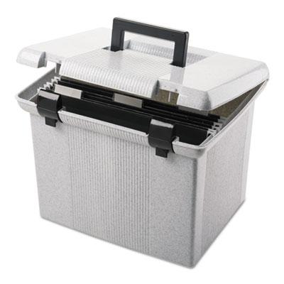 "Pendaflex 14"" D Letter Portafile File Storage Box  Granite 41747"