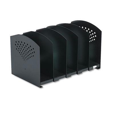 Five-Section Adjustable Book Rack, Steel, 15 1/4 x 9 x 9 1/4, Black 3116BL