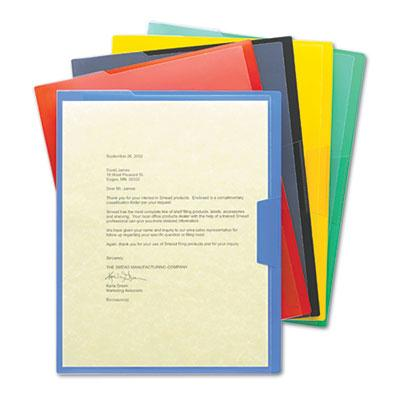 Smead Clear-Front Project Letter File Jackets  Assorted  5-Pack 85740