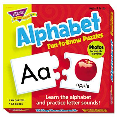 Trend Fun To Know Alphabet Puzzles 52 Pieces