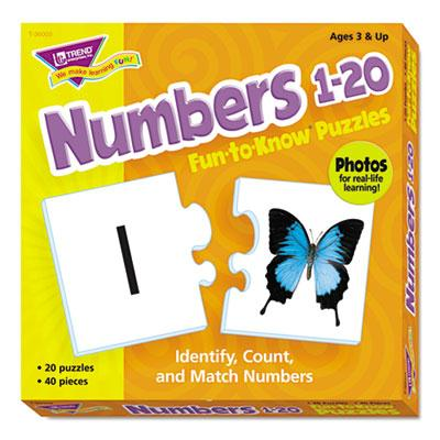 Trend Fun To Know Numbers 1-20 Puzzles 40 Pieces