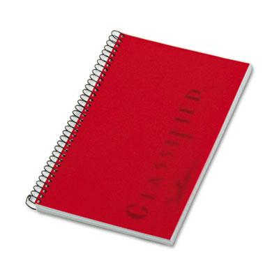 """TOPS Classified 5-1/2"""" X 8-1/2"""" 100-Sheet Legal Rule Business Notebook  Red Cover 73505"""