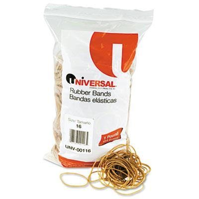 "Universal 2-1/2"" x 1/16"" Size #16 Rubber Bands  1 lb. Pack 00116"