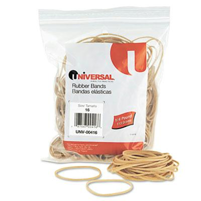 "Universal 2-1/2"" x 1/16"" Size #16 Rubber Bands  1/4 lb. Pack 00416"
