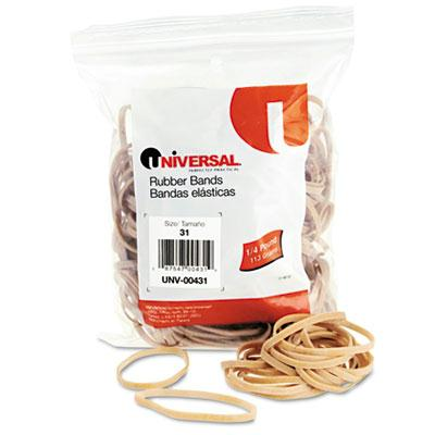 """Universal 2-1/2"""" x 1/8"""" Size #31 Rubber Bands  1/4 lb. Pack 00431"""
