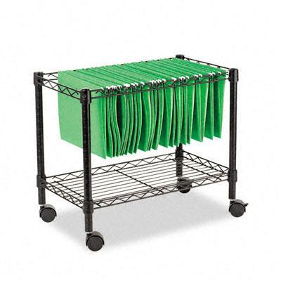 Alera Single-Tier Rolling File Cart FW601424BL