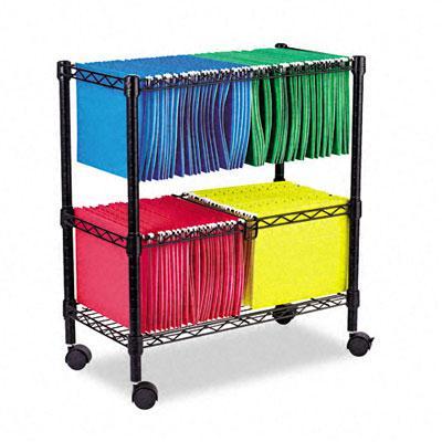 Alera Two-Tier Rolling File Cart FW601426BL
