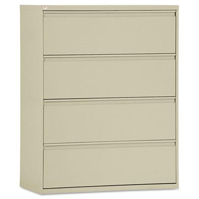 """Alera Lf4254py 4-drawer 42"""" Wide Lateral File Cabinet Letter & Legal Size Putty"""