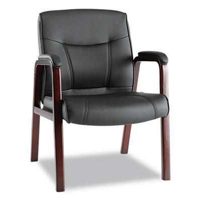 Alera Madaris Ma43als10m Leather Wood Guest Chair