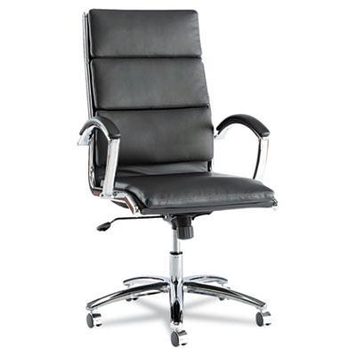 Alera Neratoli Nr4119 Slim Profile Leather High-back Executive Office Chair Black