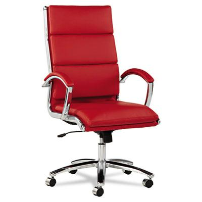 Alera Neratoli Nr4139 Slim Profile Leather High-back Executive Office Chair Red