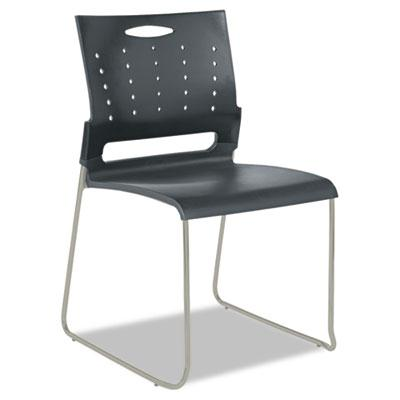 Alera Continental Sc6546 Plastic Perforated-back Stacking Chair 4-pack