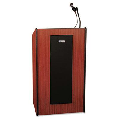 Amplivox Presidential Plus Lectern With Sound System Mahogany