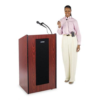 Amplivox Presidential Plus Wireless Sound System Lectern Medium Oak