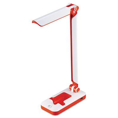 "Black & Decker 17.5"" H LED Fold Desk Lamp White/Red"