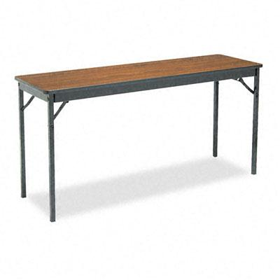 "Barricks 60 W X 18"" D Rectangular Laminate Folding Table"