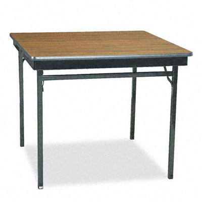 "Barricks 36"" W Square Laminate Folding Table"