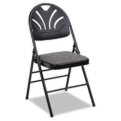 Bridgeport Fanfare 36875kn 4-pack Molded Plastic-back Fabric Folding Chair