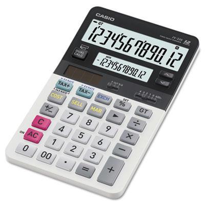 Casio Jv220 Dual Display 12-digit Desktop Calculator