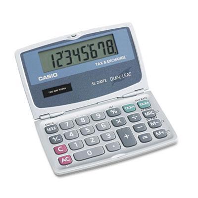 Casio Sl200te Foldable 8-digit Handheld Pocket Calculator