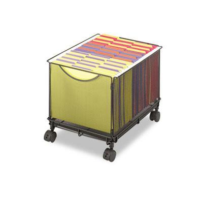 Safco Onyx File Cube Mesh Mobile Cart 5211BL